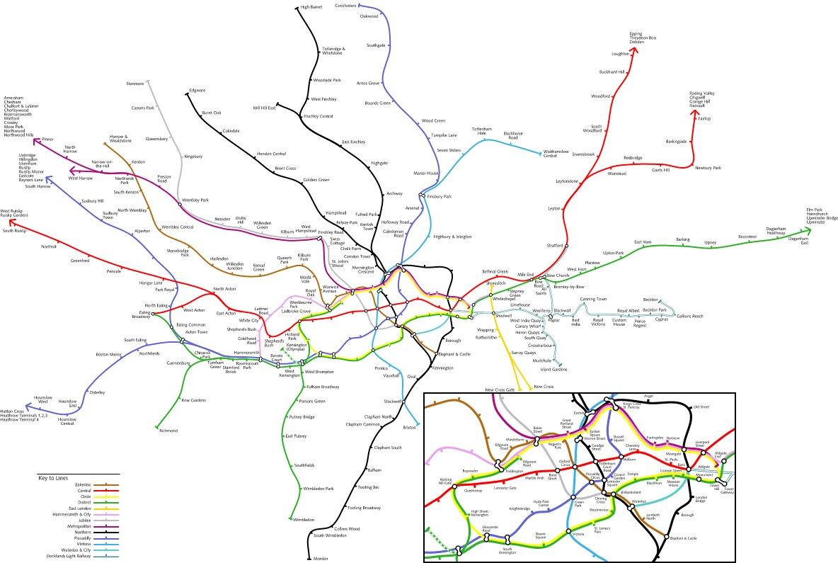 Geofftech Tube Silly Tube Maps – London Subway System Map