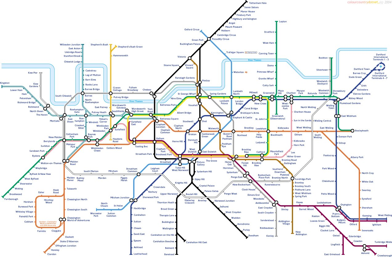 The south Londonbiased tube map Now Here This Time Out London