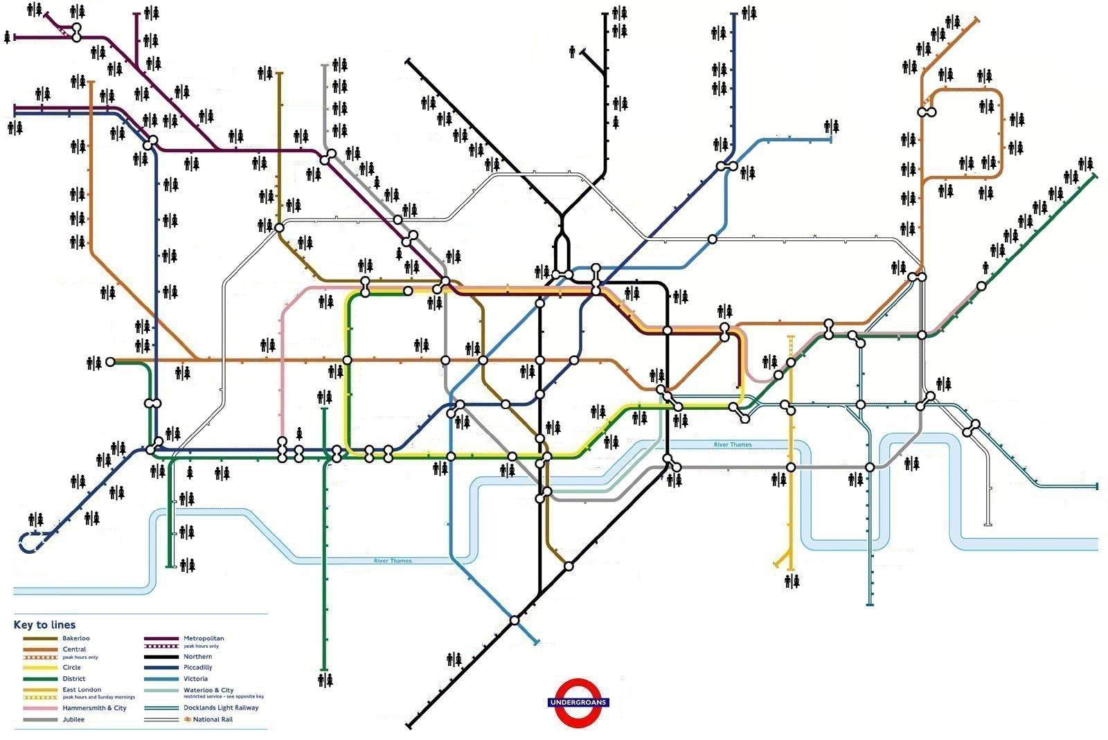 Geofftech Tube Silly Tube Maps - Northern line map london